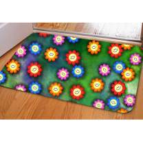 Mats and Rugs Non Slip Pretty Decoration Sunflower Welcome Rugs for Kitchen Bathroom Living Room Home Decor