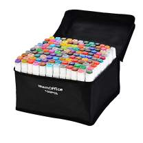 Memoffice 120 Colors Dual Tips Alcohol Markers, Art Markers Set for Kids Adults, Alcohol Based Markers with Carrying Case for Anime Design, Painting, Highlighting, Great Gift Idea