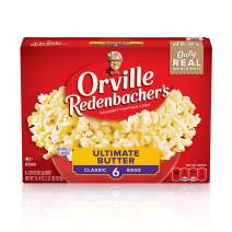 Orville Redenbacher's Ultimate Butter Popcorn, Gluten Free, 3.29 Ounce Classic Bag, 6-Count, Pack of 6