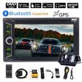 2 Din Car Stereo Bluetooth 6.2'' Touch Screen Double Din GPS Navigation in Dash Car DVD Player Autoradio with Backup Camera Rear View, USB/SD/AM/FM Audio Video Player + Steering Wheel Control + 3