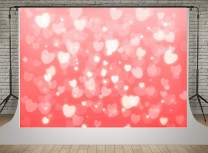 Kate 7x5ft Valentine's Day Backdrops for Shooting Pink Background with Loveheart Photography Baby Children Photo Studio