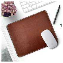Leather Mouse Pads for Laptop Computer PC Gaming Apple Executive Work Desk Handmade by Rustic Town