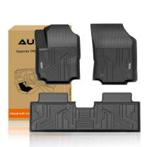 Auxko Floor Mats Liners TPE All-Weather Guard Compatible for 2018-2021 Chevrolet Equinox, Heavy Duty 1st & 2nd Row Full Set Liners