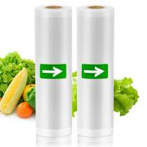 Zentouch Vacuum Sealer Bags, 2-Pack 7.9''x 50' Rolls Embossed Food Saver Bags Commercial Grade Vacuum Sealer Roll for Food Saver, Freezer, Sous Vide