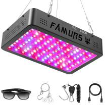 FAMURS 1000W Triple Chips LED Grow Light Full Spectrum with Veg and Bloom Switch, LED Plant Grow Lamp with Daisy Chain for Greenhouse Hydroponic Indoor Plants.