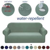 Granbest Premium Water Repellent Sofa Cover High Stretch Couch Slipcover Super Soft Fabric Couch Cover (Matcha Green, Loveseat)