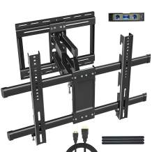 TV Wall Mount Bracket Full Motion for 32-80 Inch LED OLED Flat Curved Screen, Sliding for Centering,Vertical Adjust, TV Mount with Swivel Extension Articulating Arms,Max VESA 600x400 100lbs