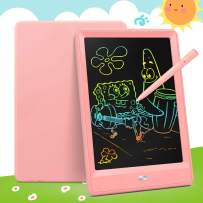 Bravokids Toys for 2-6 Years Old Girls Boys, LCD Writing Tablet 10 Inch Doodle Board, Electronic Drawing Tablet Drawing Pads, Educational Birthday Gift for 3 4 5 6 Years Old Boy and Girls (Pink)
