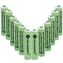 BAOBIAN AAA 600mAh 1.2V NiMH Rechargeable Solar Batteries for Solar Light,Solar Lamp,Garden Lights Green(12 PCS)