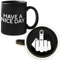 Funny Coffee Mug by Find Funny Gift Ideas | Unique Novelty Coffee Mugs for Men | Funny Coffee Mugs for Women | Have A Nice Day Middle Finger Coffee Mug | Great Coffee Gift