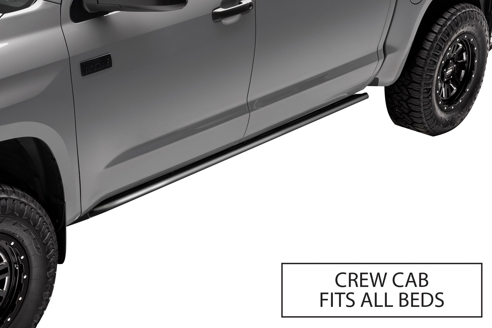 n-FAB RKR Rails, Textured Black, Cab Length | C144RKRCC | fits 14-19 Chevy-GMC 1500, Crew Cab, All Bed Sizes