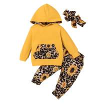Newborn Baby Girl Clothes Outfits Long-Sleeve Hoodie Sweatshirt Floral Pants Toddler Girl Clothing Set