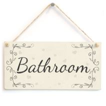 """Meijiafei Bathroom - French Type PVC Home Decor Door Sign/Plaque 10""""x5"""""""
