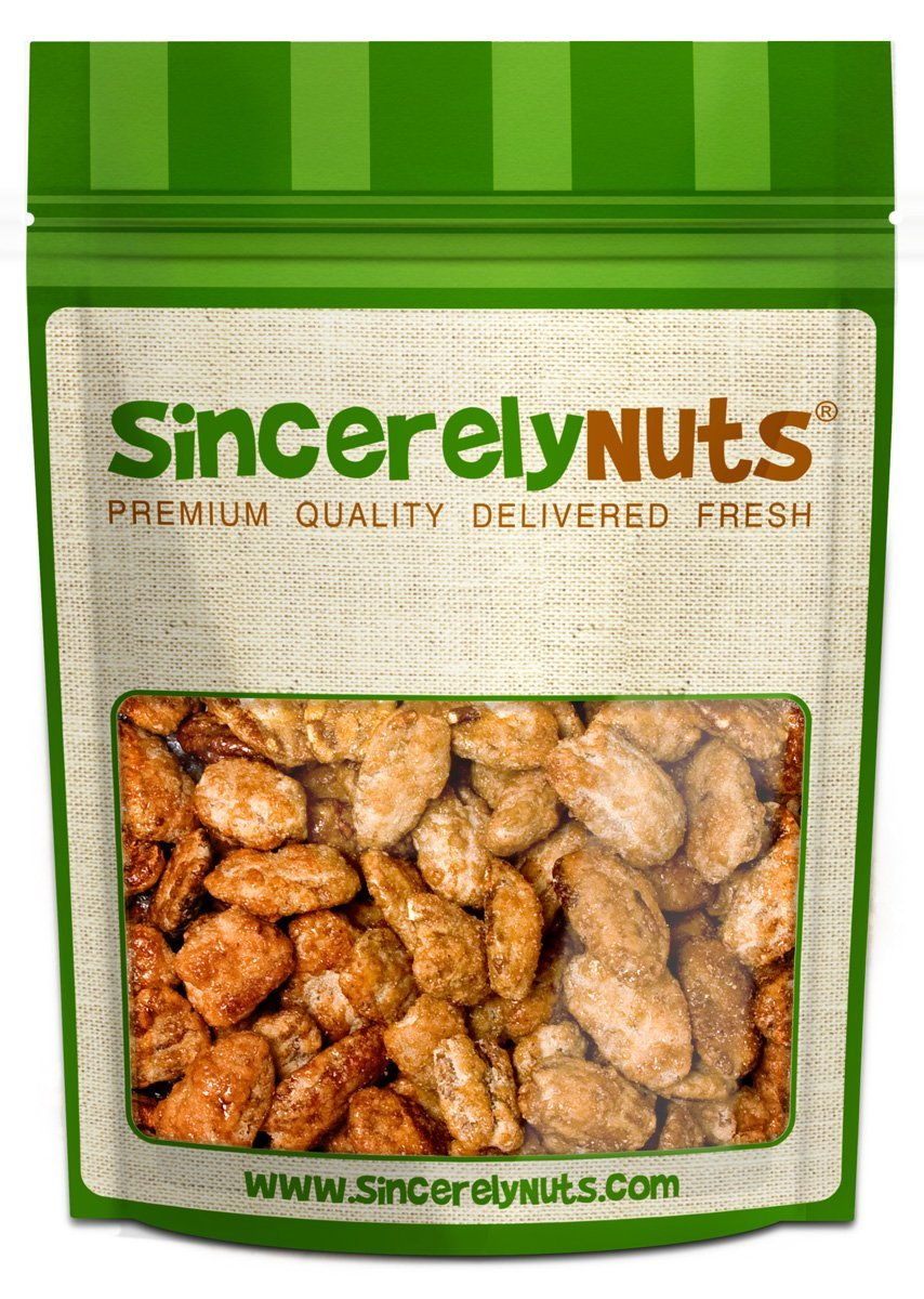 Sincerely Nuts – Butter Toffee Pecans | One Lb. Bag | Shelled Coated Whole Pecans | Delicious Healthy Gluten Free Snack Food | On the Go Snacking, Parties, Kids Lunches | Fresh Resealable Bag