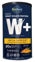 Biochem 100% Whey Isolate Protein - Turmeric - 8.83 Ounce - Infla Support - 20g Vegetarian Protein - Keto-Friendly - Amino Acids - Clinically Studied - Refreshing Taste - Easy to Mix