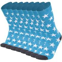 Ristake Mens Flag Dress Novelty Cotton Crew Moisture Wicking Socks Best for Business&Wedding&Casual Use, 1/2/4 Pairs