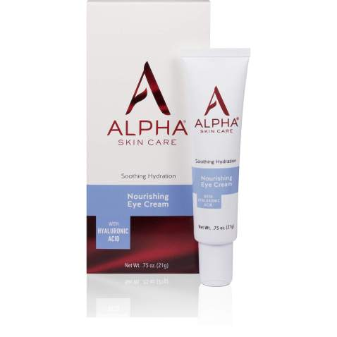 Alpha Skin Care Nourishing Eye Cream with Hyaluronic Acid   Anti-Aging Formula   Soothing Hydration   Reduces the Appearance of Lines & Wrinkles   For All Skin Types   0.75 Oz