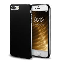iPhone 7 Plus Black Case/iPhone 8 Plus Black Case, technext020 Shockproof Ultra Slim Fit Silicone TPU Soft Gel Rubber Cover Shock Resistance Protective Back Bumper for iPhone 7 Plus/iPhone 8 Plus