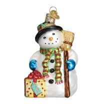 Old World Christmas Assortment Glass Blown Ornaments for Christmas Tree Gleeful Snowman
