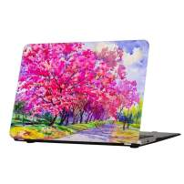 MacBook Air 13 Inch Case, Funut Matte Rubber Coated Soft Touch Plastic Hard Case Shell Fashion Style for MacBook Air 13.3 Inch (Model: A1466 A1369) - The Painting of Sakura