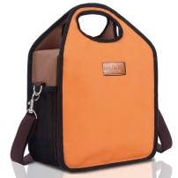 BALORAY Lunch Tote Bag Insulated Lunch Bag with Shoulder Strap Water Resistant, Easy to Clean Perfect for On-The-Go (G-226 Orange)