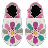 Kimi + Kai Baby Girls Lambskin Leather Soft Sole Shoes - Flower