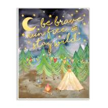 Stupell Home Décor Be Brave Camping Painting Wall Plaque Art, 10 x 0.5 x 15, Proudly Made in USA