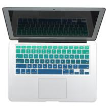 "Batianda New Ombre Color Keyboard Cover Protector Silicone Skin for MacBook Air 13"" MacBook Pro 13"" 15"" 17"" (with or w/Out Retina Display) - Gradient Green"