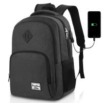 17.3 Inch Laptop Backpack,College Backpack for Men and Women,Water Resistant School Bag with USB Charging Port,Fits 17.3 Inch Laptop Notebook