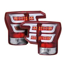 Torcia Auto Compatible With Toyota Tundra 07-13 Sequential LED Tail Lights,Cruising Edition, Clear Lens & Red Housing (TYPE CR)