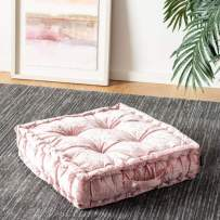 Safavieh Belia Glam 18-inch Blush Pink Velvet Square Floor Pillow