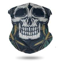 Bandana face mask, Multifunctional Tube Scarf Seamless 3D Motorcycle Neck Gaiter