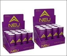 NEU Extra Strength Nootropic Energy Shots, Energy Drink: Brain Booster Focus Supplement, Coffee Alternative Nutritional Drink + Keto Energy Pre Workout with Zero Sugar, Electric Grape 2oz (24 Shots)