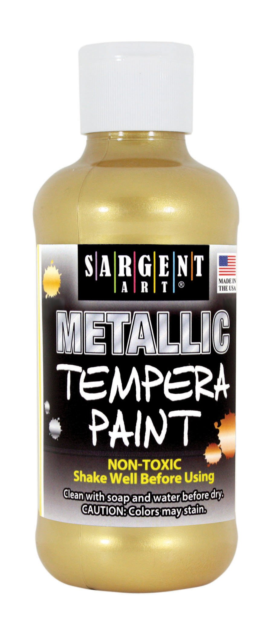 Sargent Art 17-5081 8 oz Gold Metallic Tempera Paint