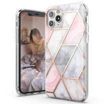 TiTiShark Marble Series Case for iPhone 11 Pro Case, Slim Thin Glossy Soft TPU Rubber Gel Phone Case Cover Compatible iPhone 11 Pro 5.8 Inch 2019 Release-Coral