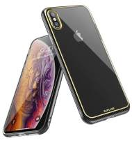 SUPCASE [Unicorn Beetle Metro Series] Case Designed for Apple iPhone Xs Max 6.5 Inch 2018 Release, Slim Soft TPU Clear (Gold)