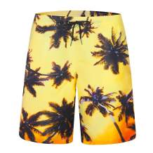 zeetoo Mens Printed Funny Swim Trunks Quick Dry Beachwear Sports Running Swim Board Shorts Mesh Lining