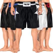 Elite Sports Mens Boxing Shorts Lightweight Boxing Trunks Shorts for Men & Women