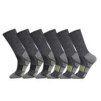 JOYNÉE Mens 6 Pack Athletic Cushion Crew Socks Performance Running Socks