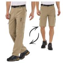 Hiking Pants for Men boy Scout Convertible Cargo Zip Off Lightweight Quick Dry Breathable Fishing Safari Shorts