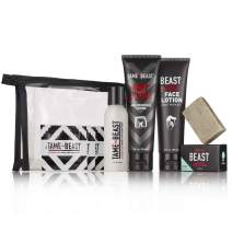 Men's Grooming Travel Set - All-in-1 Body Wash, Face Lotion, Nutt Butter Tingle Cream, Bonus Samples - BBC Back Balls Chest Starter Kit by Tame the Beast