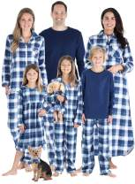 SleepytimePJs Matching Family Christmas Pajama Sets, Blue Flannel