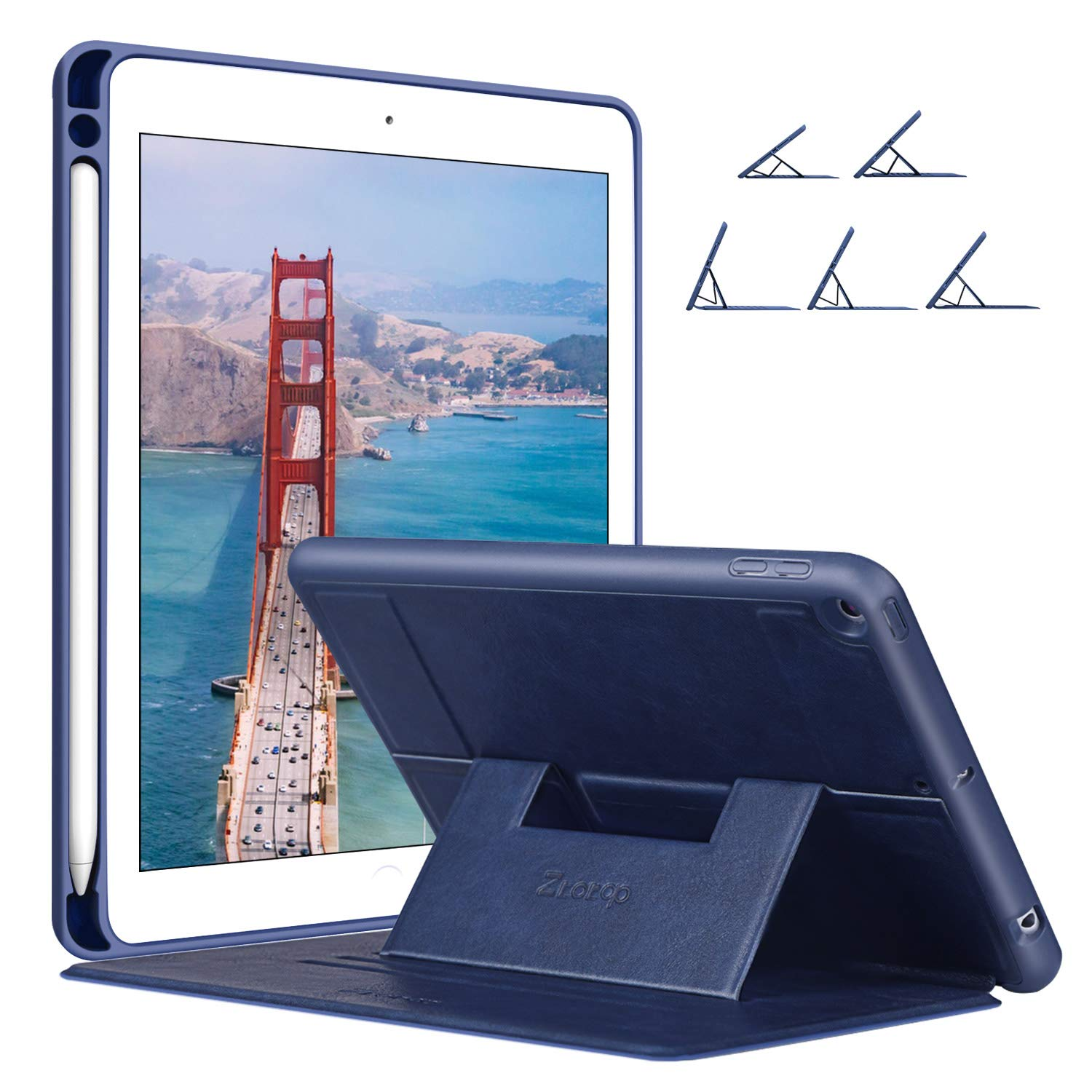 Ztotop for iPad Mini 5 Case 2019 with Pencil Holder, Secure Magnetic Stand Folio Case with Auto Wake/Sleep,Multiple Viewing Angles,Soft Silicone Back Cover for iPad Mini 5th Gen 7.9-inch 2019, Blue