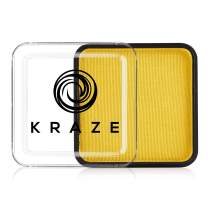 Kraze FX Square - Yellow Face Paint (25 gm) - Hypoallergenic, Non-Toxic, Water Activated Professional Face & Body Painting Makeup Supplies for Sensitive Skin, Kid Safe, Adults