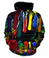 LAIDIPAS Unisex Graphic Hoodies 3D Print Colorful Design Cool Sweatshirt with Pocket for Men and Women