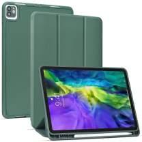Arae for iPad Pro 11 2020 Case/iPad Pro 11 2018 Case Auto Wake/Sleep Feature Standing Cover, Green