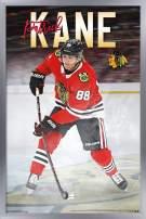 "Trends International NHL Chicago Blackhawks - Patrick Kane Wall Poster, 14.725"" x 22.375"", Silver Framed Version"