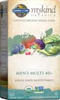 Garden of Life Multivitamin for Men - mykind Organic Men's 40+ Whole Food Vitamin Supplement, Vegan, 60 Tablets *Packaging May Vary*