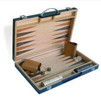 WE Games Black Zebra Wood Backgammon Set -15 in.