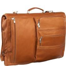 Piel Leather Executive Expandable Garment Bag, Saddle, One Size